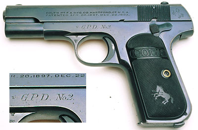 Model M .32 ACP factory inscribed G.P.D. No. 2